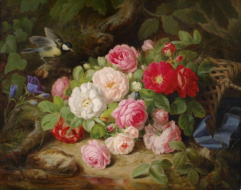 восхитительная картина с цветами дивана