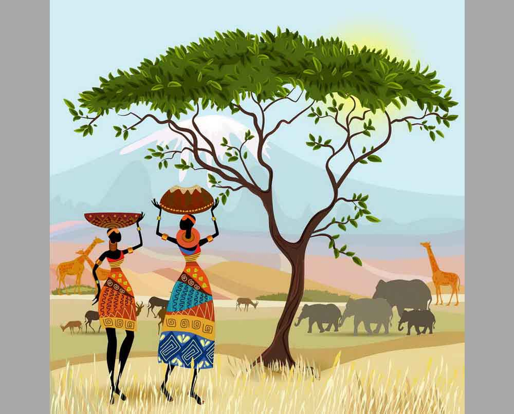 Рисунки африка картинки